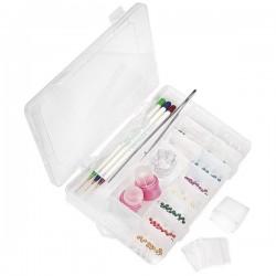 BOITE capsules,tips et décoration Vide